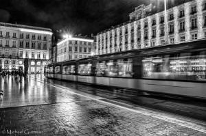 Night Tram to Bordeaux - France