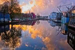 The Mirror of Cork at Sunset - Ireland