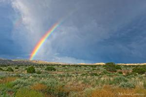Summer Shower and a Rainbow - New Mexico