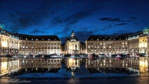 The Place de la Bourse and the Miroir d'Eau in Bordeaux France