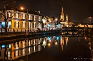 Reflections of Cork at Night